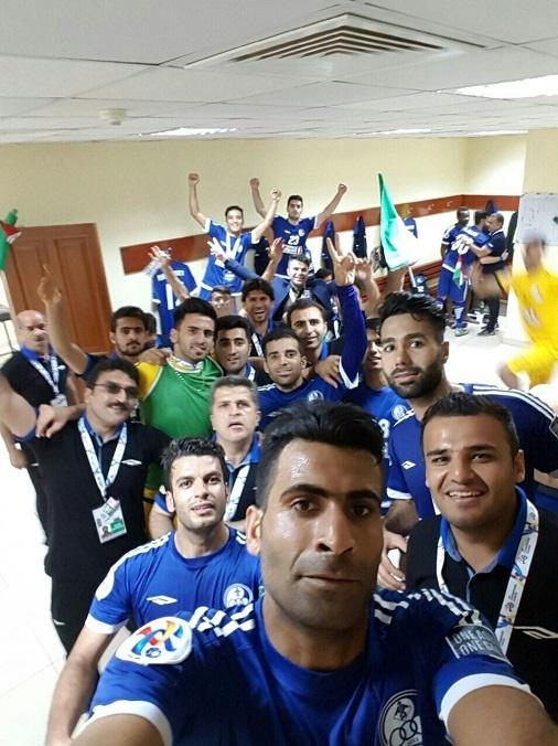 عکس یادگاری استقلالیهای خوزستان پس از پیروزی در آسیا