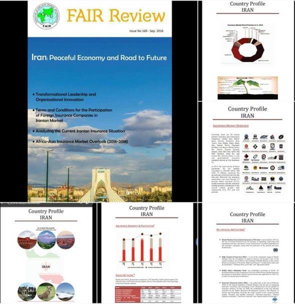 توجه ویژه نشریه بیمه گران آسیا و افریقا به صنعت بیمه