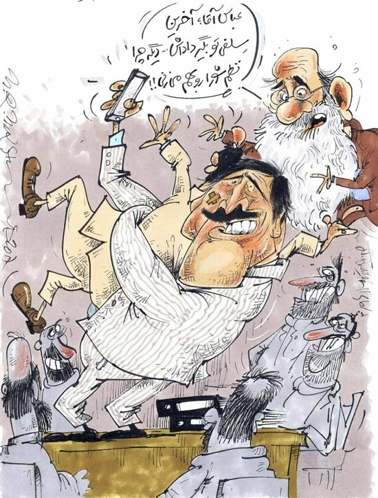 کاریکاتور/ آخرین سلفی عباس جدیدی در شورای شهر!