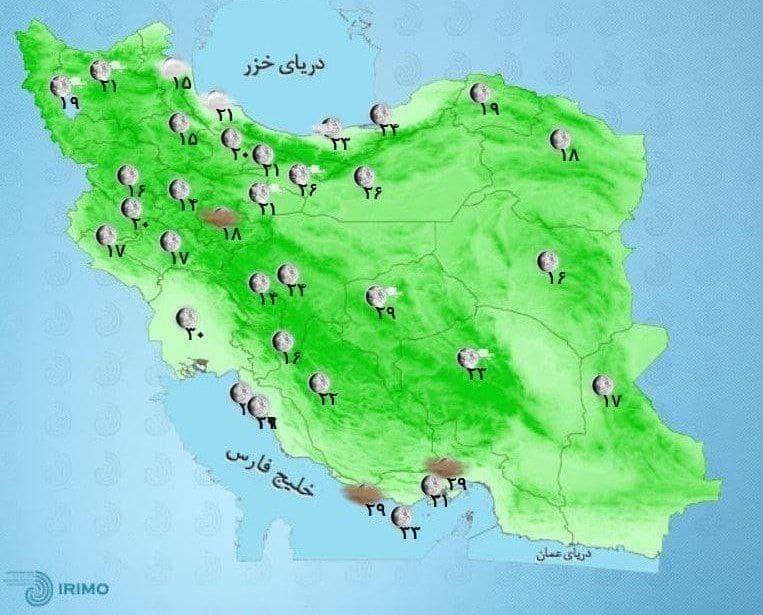 وضعیت آب و هوا، امروز 1 مهر 1400 / هوا خنک میشود / تهران شاهد وزش باد