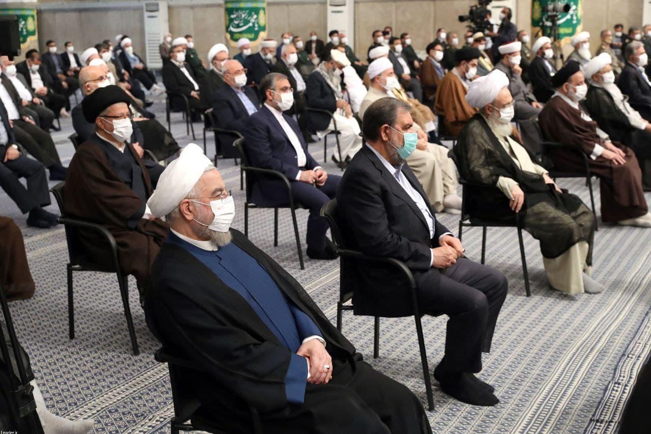 عکس / حضور روحانی در دیدار امروز مسئولان با رهبر معظم انقلاب