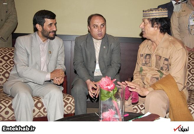 احمدی نژاد در دیدار با معمر قذافی