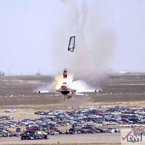 تصویر/ ایجکت خلبان در حال سقوط