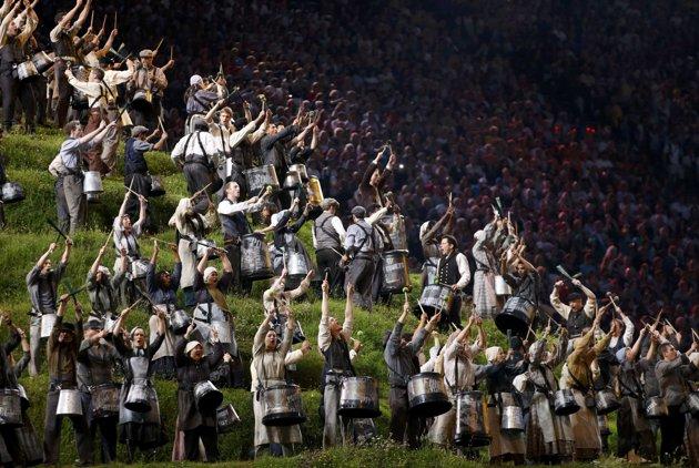 23974 840 تصاویر شگفت انگیز از افتتاحیه المپیک لندن