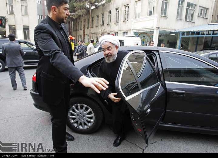 عکس خودرو و بادیگارد دکتر روحانی