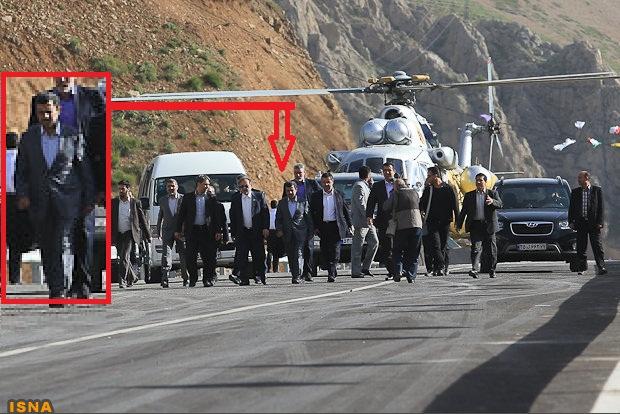 www.DEZLA.IR عکس: احمدینژاد پس از سانحه هوایی
