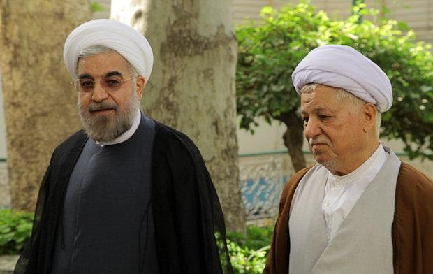حجت الاسلام والمسلمین حسن روحانی. مرحوم آیت الله اکبر هاشمی رفسنجانی