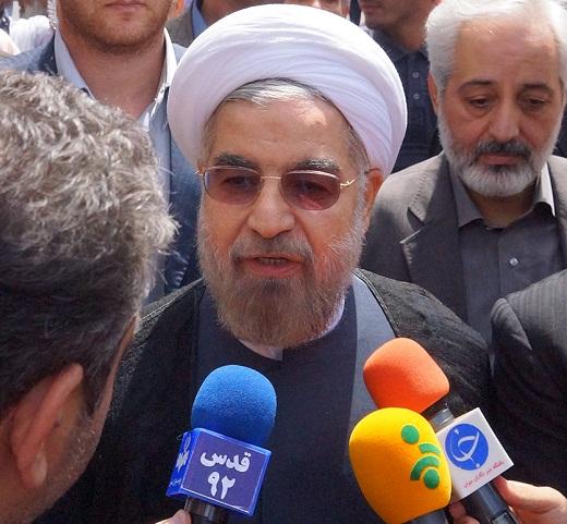 دو نما از حسن روحانی: تحریف سخنان حسن روحانی در راهپیمایی روز قدس/ اقدام مشکوک