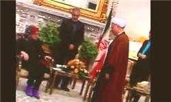 بی احترامی رییس هیات اروپایی به آیت الله هاشمی+عکس