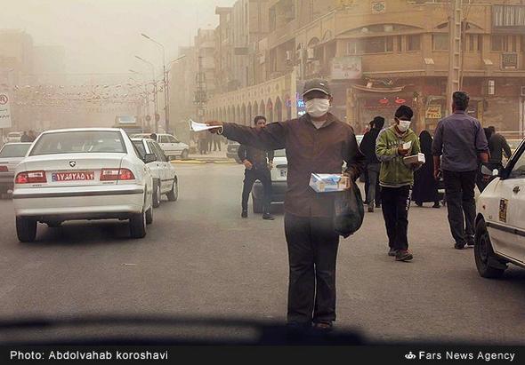 تصاویر : گرد و غبار شدید در خوزستان