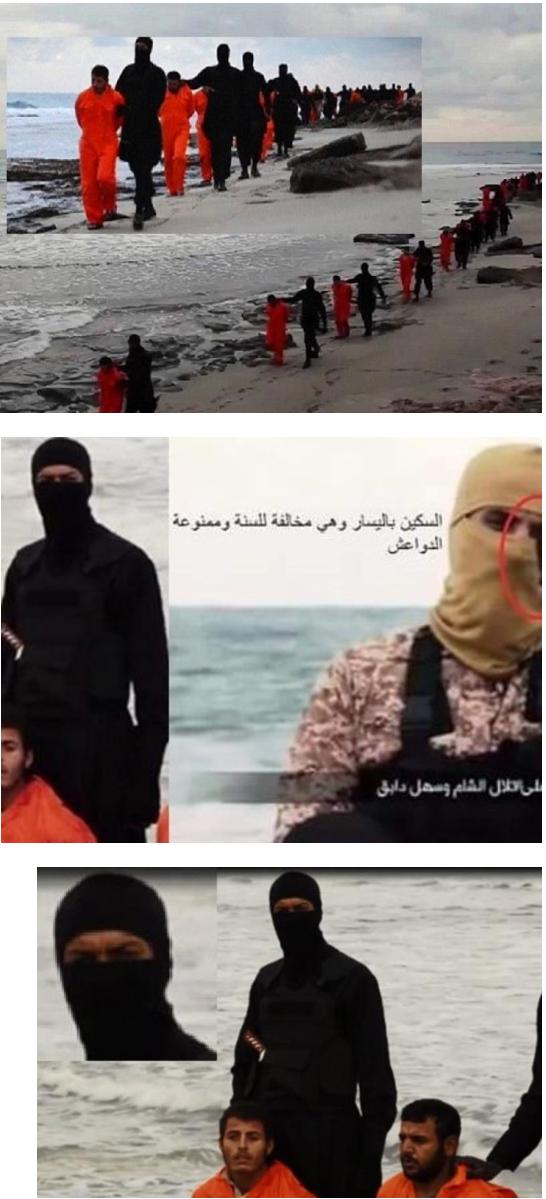 حضور یک زن بین جلادان داعش+عکس