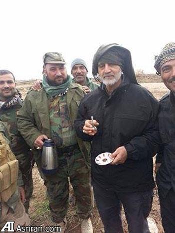 عکس قاسم سلیمانی جنگ با داعش