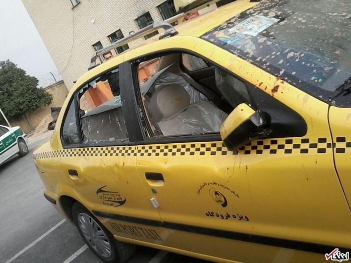 حمله به علی مطهری و شکاندن شیشه خودروی حامل او با چوب و سنگ / چشم مطهری آسیب دید