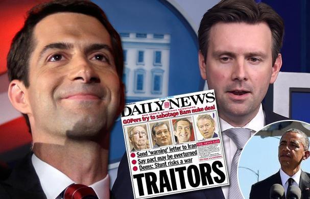 اوج گیری حمله به سناتورهای امضاکننده نامه به ایران با هشتگ «47 خیانتکار»