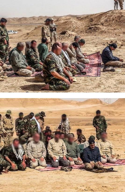 عکس : اقامه نماز به امامت سردار قاسم سلیمانی