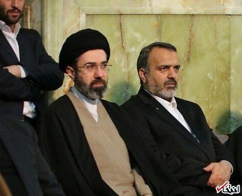 عکس/ سید مجتبی خامنه ای در حاشیه سخنرانی رهبر انقلاب در مشهد