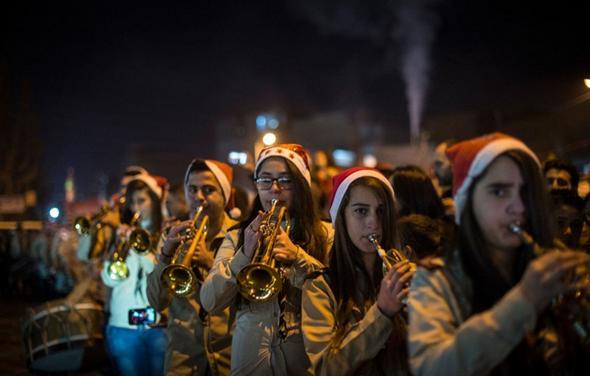 تصاویر : کریسمس در محله مسیحیان دمشق