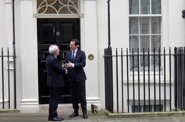 تصاویر : دیدار ظریف و هاموند در لندن