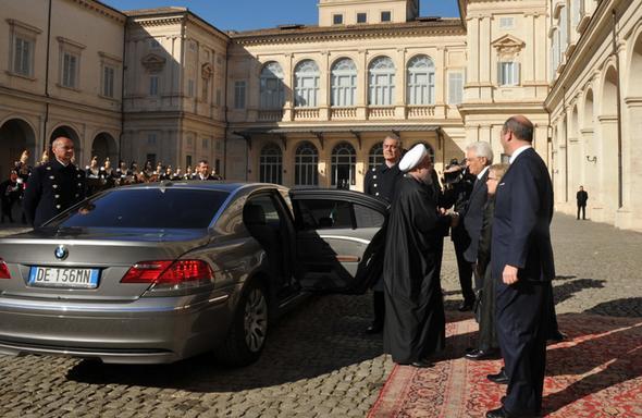 تصاویر : سفر روحانی به ایتالیا