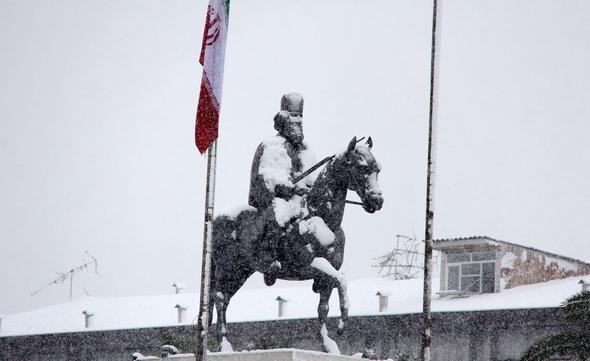 تصاویر : برف زمستانی در رشت و اردبیل