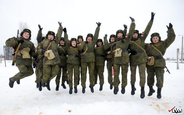 تصاویر : زنان ارتش روسیه