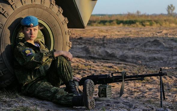 تصاویر : دختران ارتش روسیه