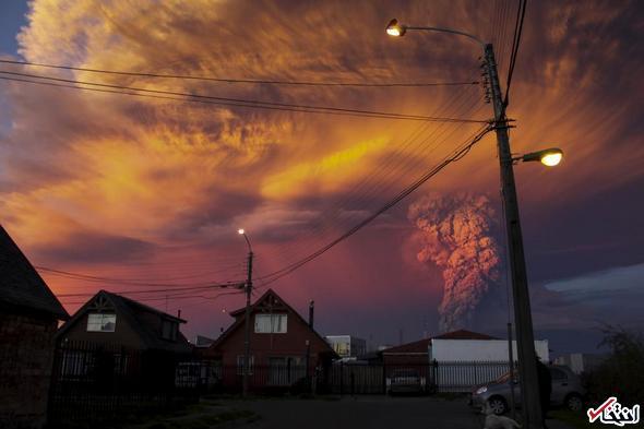 تصاویر : فوران آتشفشان در شیلی