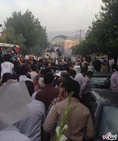 استقبال شدید از آیت الله سیدحسن خمینی در گرگان / استقبال بسیار مردم مانع حرکت اتومبیل «سیدحسن» شد