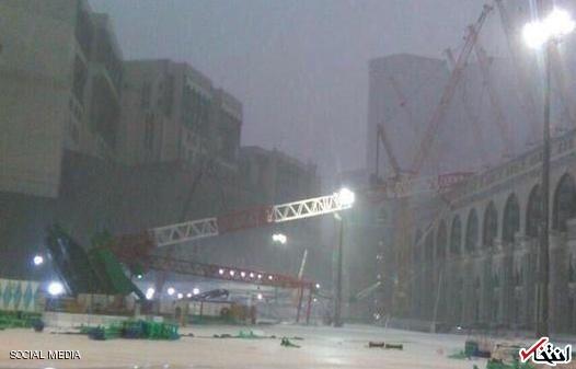 62 کشته در پی بارش شدید باران در مکه / 12 زائر ایرانی زخمی شدند / سقوط یک بالابر به داخل مسجد الحرام