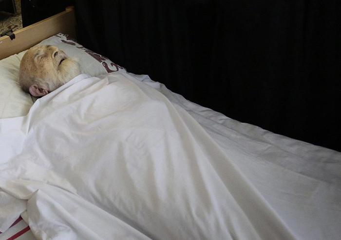 تصاویر: پیکر آیتالله خزعلی پس از درگذشت