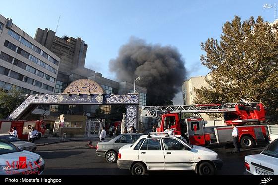 آتشسوزی گسترده در ساختمان وزارت کشور/ عکس