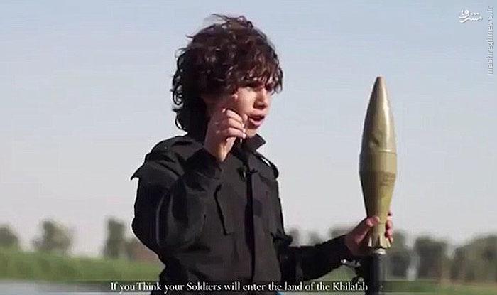 عکس: خط و نشان کودک داعشی برای اوباما