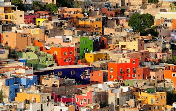 تصاویر : شهرهای رنگارنگ جهان