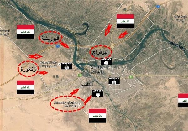 جزئیات جدید از پیشروی نیروهای عراقی در شهرستان «بیجی»+ نقشه