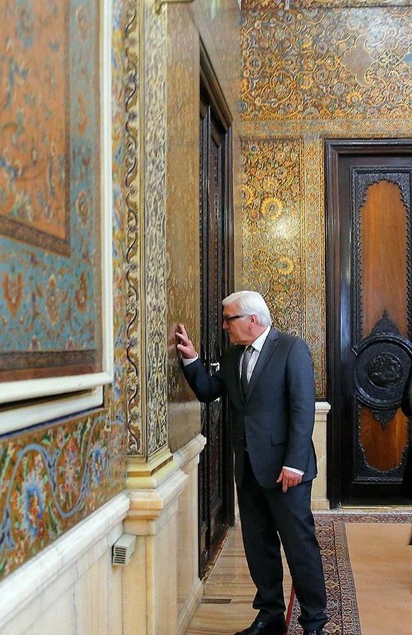 تصاویر/ شگفتی وزیر خارجه آلمان از معماری اصیل ایرانی در ساختمان مجمع تشخیص مصلحت نظام