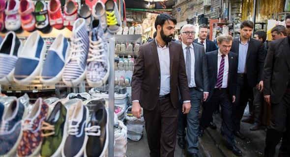 تصاویر : اشتاینمایر در بازار تهران