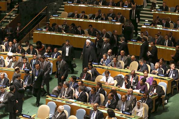 تصاویر : روحانی در مقر سازمان ملل