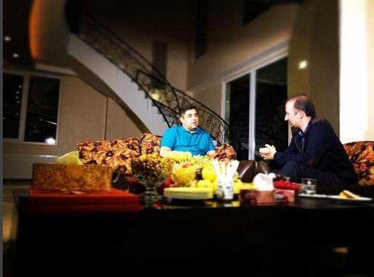 عکسی از مصاحبه صداوسیما با شهرام جزایری