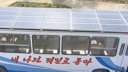 اتوبوسهای خورشیدی کره شمالی + عکس