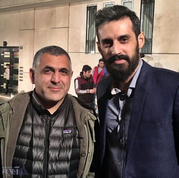 دیدار تصادفی سعید معروف و مانی حقیقی در خیابان + عکس