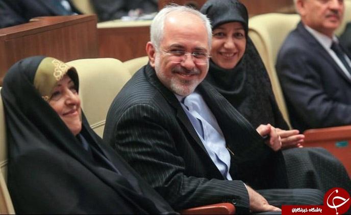 ظریف و همسرش مهمان معصومه ابتکار + تصویر