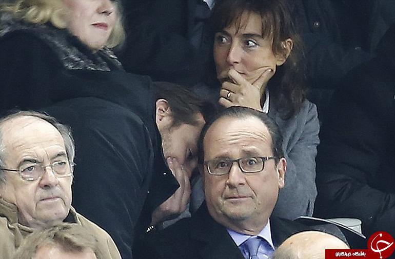 لحظه با خبر شدن رئیس جمهور فرانسه از حادثه + تصویر