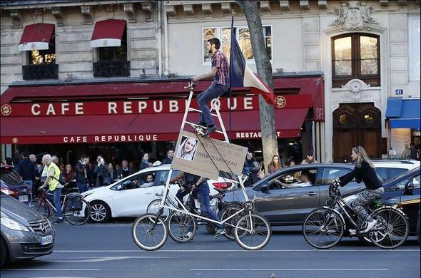 تصاویر : سوگواری مردم پاریس