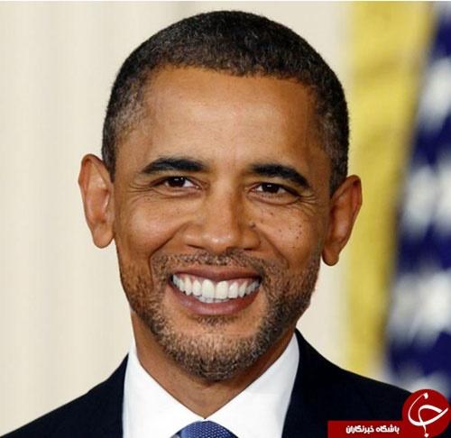 اوباما با ریش + تصویر