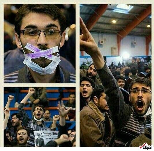 تصویر: فریادهای دانشجویی که مدعی بود دولت صدایش را خفه کرده!