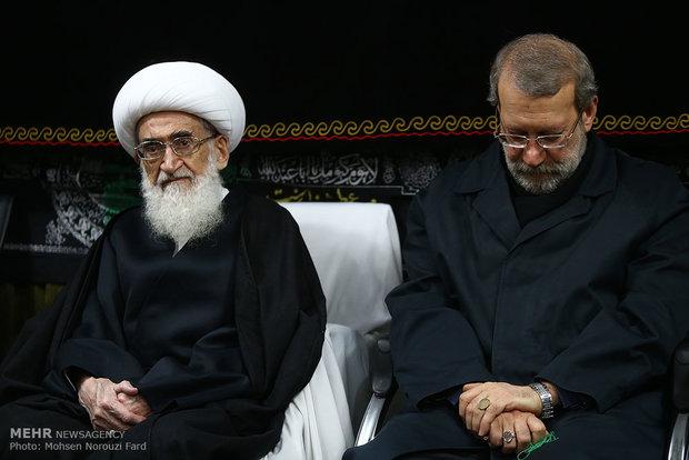 تصاویر: لاریجانی در جمع عزاداران قمی