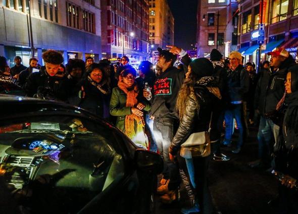 تصاویر : نا آرامی در شیکاگو