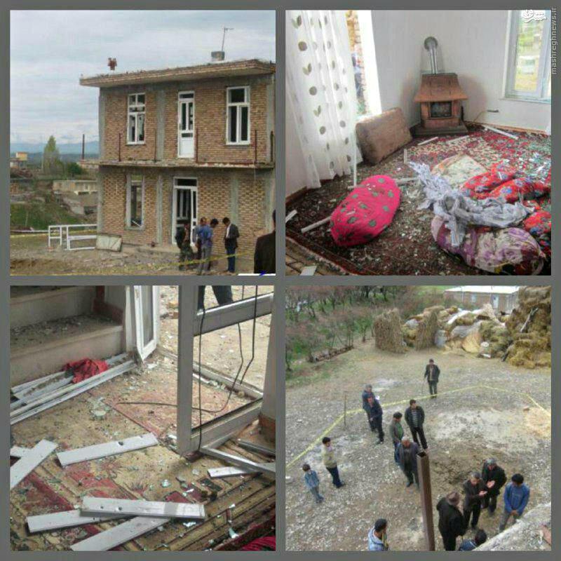 اصابت خمپاره به روستای مرزی ایران/ عکس