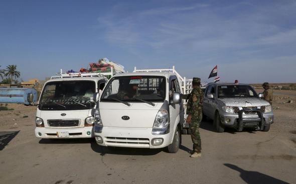 تصاویر : دستگیری داعشیها در رمادی