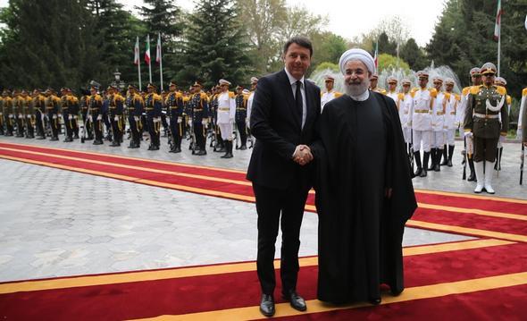 تصاویر : استقبال رسمی روحانی از نخست وزیر ایتالیا
